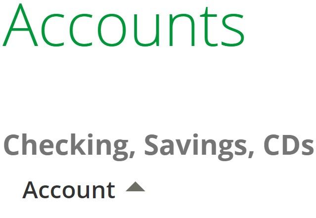 Online Banking screenshot left